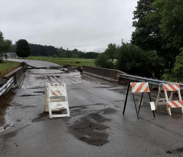 Collapsed Bridge in Shelocta PA. from Indiana County Storm