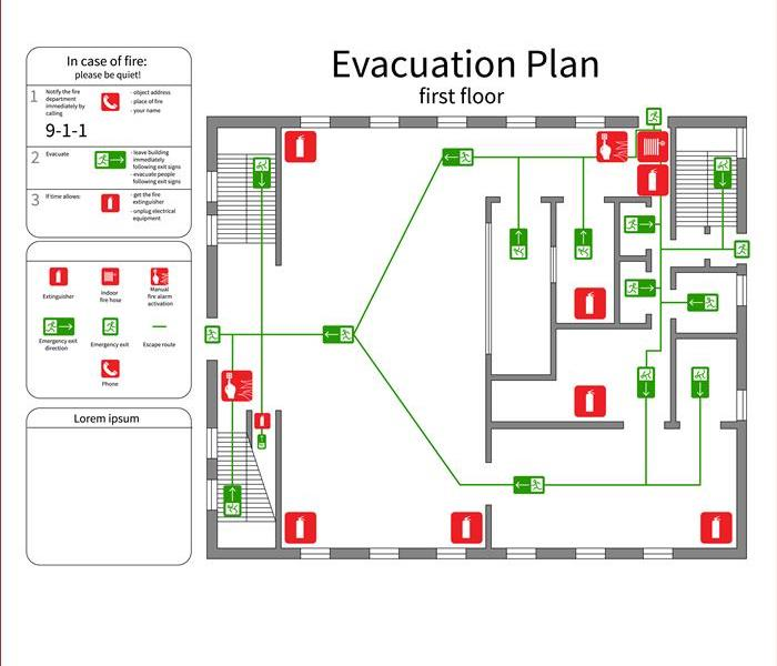 Evacuation plan - first floor